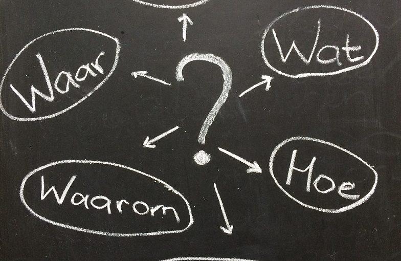 5 W-vragen en 1 H-vraag