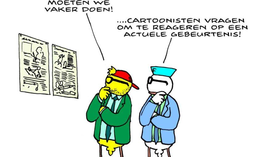 Cartoons in het nieuws