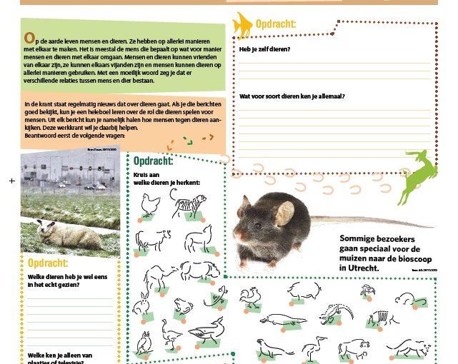 Lesmateriaal voor dierendag: Maak je eigen … dierenkrant