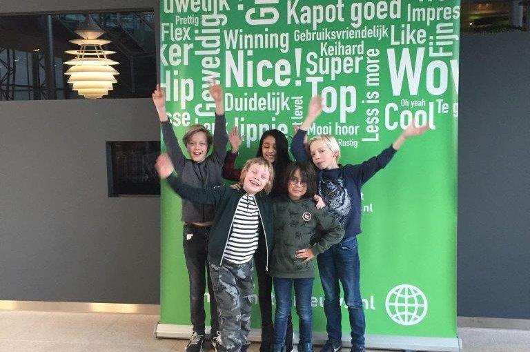 Kinderen werken met Nieuws in de klas bij Metro
