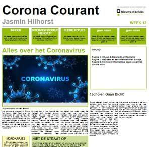 Praktijkvoorbeeld: leerlingen maken coronakrant